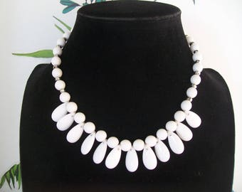 Necklace White Pearl and swarovski Pearl