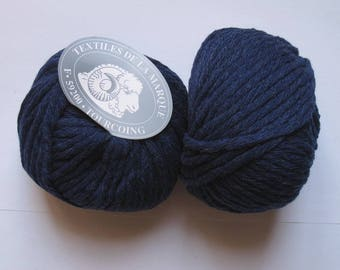 5 big skeins Pure wool N 8 Navy 196