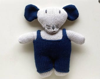 Toy mouse and his blue overalls