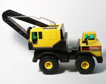 Vtg 1980s Tonka Metal Mighty Diesel Crane Shovel Truck XMB-875