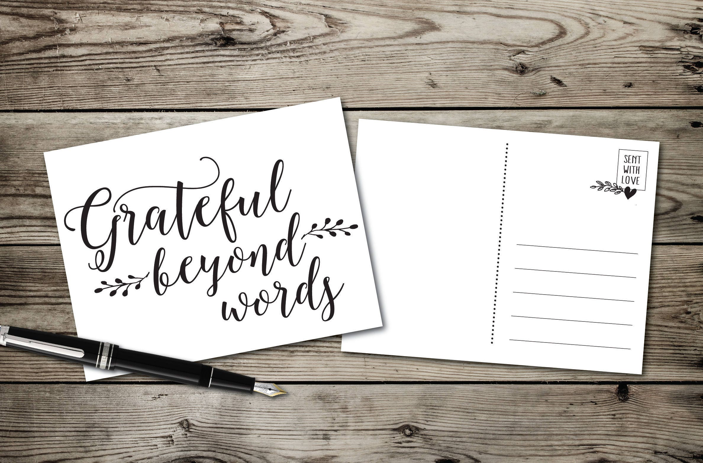 words for a thank you note