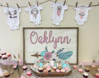 Baby sign, baby name sign, baby room decor, baby girl room decor, baby girl sign , nursery sign, nursery wall decor, nursery decor