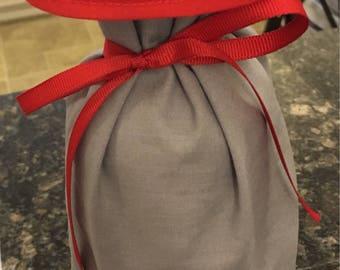 CUSTOM: wine bottle bag. Wine gift bag, gift bag