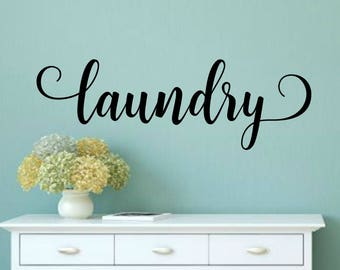 Laundry Room Decor Laundry Wall Decal Laundry Door Decal Laundry Vinyl Decal Laundry Room Decal Laundry Decal Laundry Room Vinyl