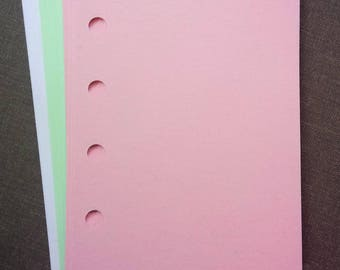 Mini sized 5-hole punched paper for Filofax style planners