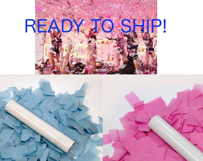 Confetti Cannon, Confetti Popper, Gender Reveal Confetti Cannon, Confetti Flick Stick, Gender Reveal Ideas, Gender Reveal Confetti Launchers