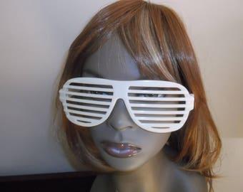Vintage 1980s MTV Veejay Glasses, Blinds Glasses, Novelty Glasses, Glow in the Dark Eye Wear, Fun Retro 80s Glasses, Sunglasses