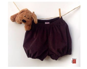 Ribbed velvet bloomers for baby-Cecibirbona