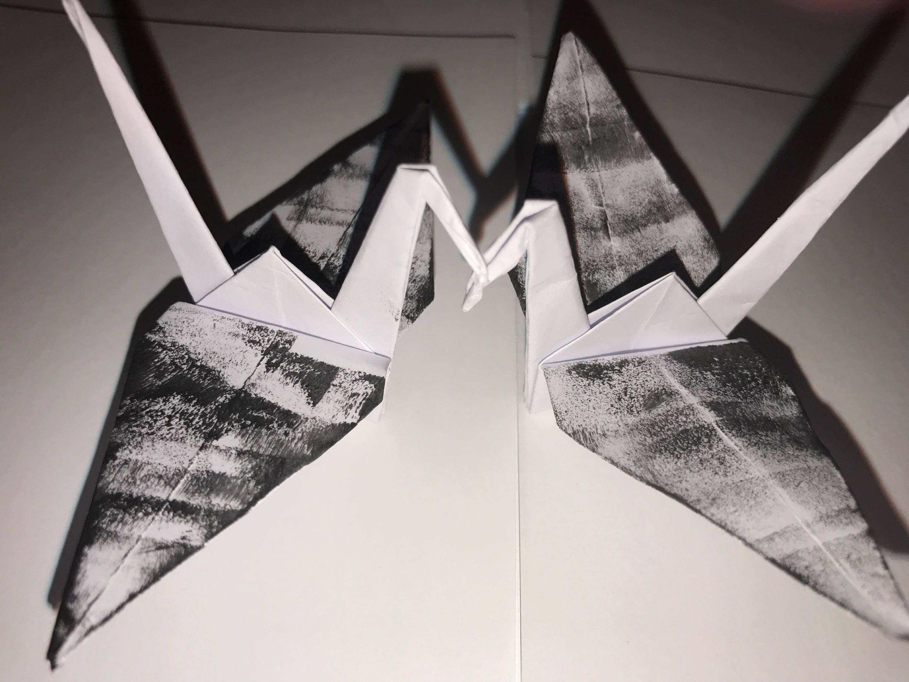 500 55 White Black Origami Cranes Paper Wedding Gift Decoration