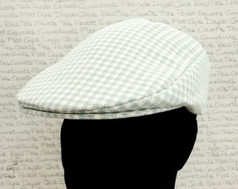 Flat Cap, houndstooth check flat cap for men