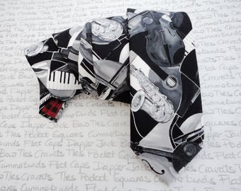 All that Jazz, musical monochrome neck tie, ties for men