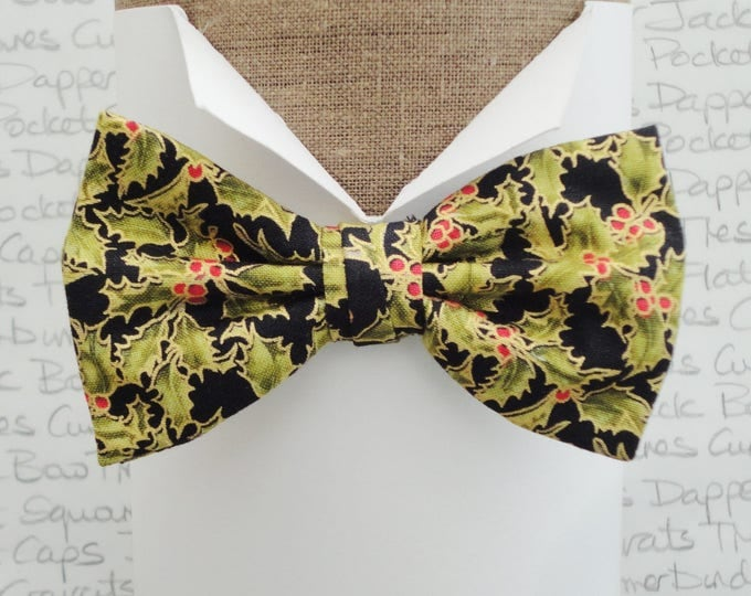 Featured listing image: Bow Tie, Bow Ties For Men, Xmas Holly Bow Tie