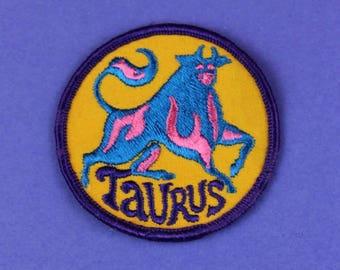 Taurus Zodiac Sign Vintage 1970s NOS Patch