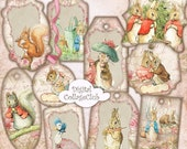 80% off Mothers Day Sale Peter Rabbit Party Tags Digital Collage Sheet Digital Easter Images for Card Making Peter Rabbit Birthday Baby Show