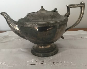 vintage silver plate teapot