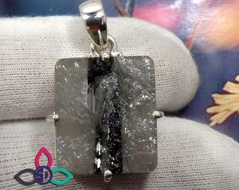 Specimen Tourmaline Pendant, Prong Set Pendant, Solid Silver Pendant, Specimen Tourmaline Jewellery, Thanks Giving Gift, Mother Gift Idea