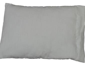 "Removable cushion rectangle ""Light grey linen"""