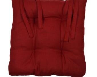 """Chair """"Burgundy linen"""" 40x40cm cushion"""