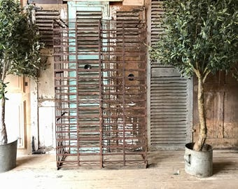 Rustic vintage French wine cage / rack