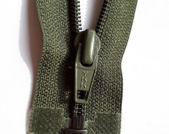 OLIVE dark nylon 5 vintage zipper divisible size 5 (YKK 567) zipper Cremallera cipzár молния cerniera, fermeture à glissière רוכסן