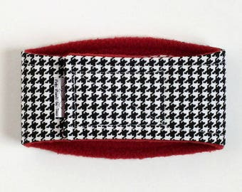 Houndstooth on Crimson Male Dog Belly Band, dog diaper, belly bands by trina, dog wrap