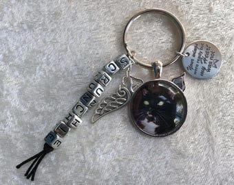 Cat loss memorial personalised keyring