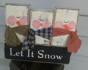 Snowman block set