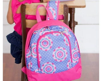 Zoey Preschool Monogrammed Backpack