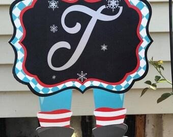 Christmas Lawn Flag feat. snowman, Santa and elves