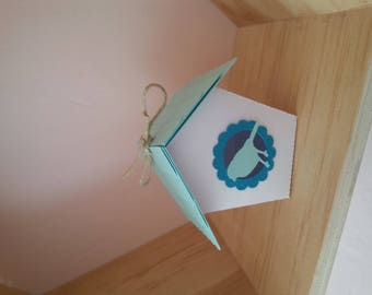 """containing sweets, candies, favors shaped birdhouse """"bird"""" theme"""