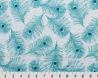 Plumage Embrace Teal from Shannon Fabrics