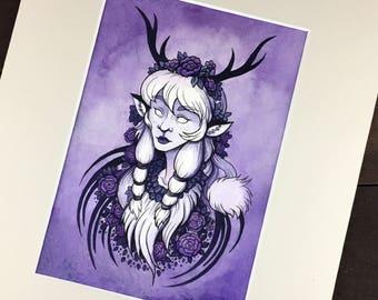 Violet_Faun_8x10_Watercolor
