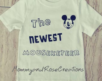Disney inspired shirt/mouseketeer shirt/mickeymouse