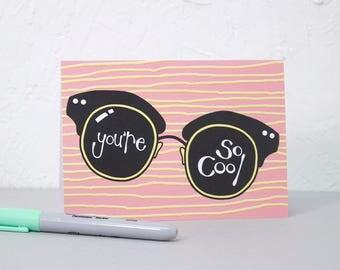 Cool Greetings Card, Birthday card, Notecard, Card for loved one, Card for Girlfriend or Boyfriend, Anniversary Card, Film geek.