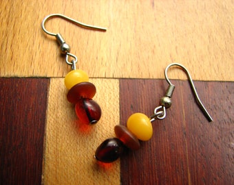 3592 -  Earrings Amber
