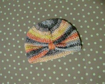 Crochet Baby Turban, Baby Beanie, Infant Beanie, Crochet Baby Hat, Newborn Hat, Crochet Infant Beanie, Knit Baby Beanie, Baby Shower Gift