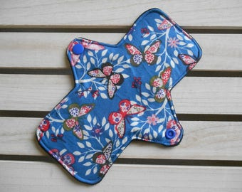 Butterflies Cloth Pad - Regular Fit Long Cloth Panty Liner, Reusable Sanitary Pad, Washable Liner, Cotton Panty Liner, Butterfly, Period Pad