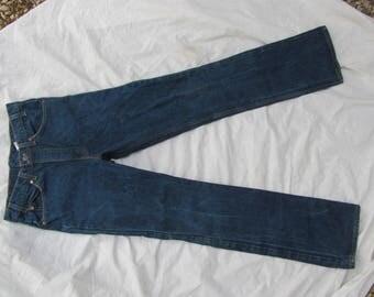 "Vintage Levis 517-0217 Denim Boot Cut Jeans Mens Size 32"" x 34"" Made in USA Excellent Dark Unshrunk Condition"