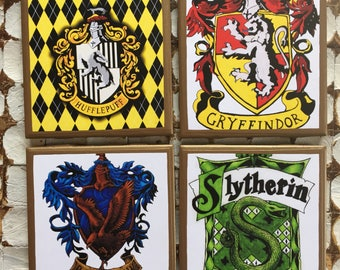 COASTERS! Harry Potter coasters with gold trim