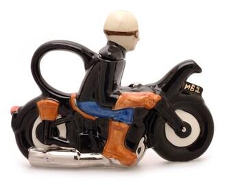 Motorcyclist Teapot
