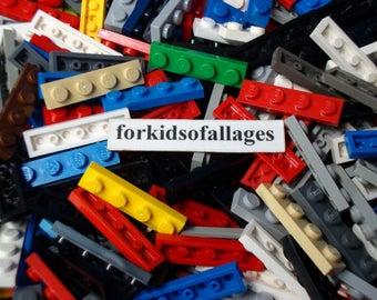 50 Lego 1x4 Stud Flat Plates - Assorted Colors - Bulk Lego Parts / Pieces Lot