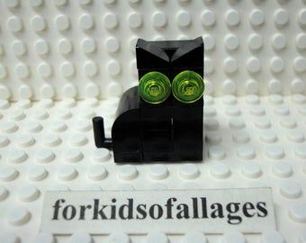Custom Built Lego Cat -- Choice of Halloween Black Cat, All White Kitty, Orange / Calico Kitten