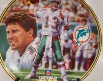 Vintage 1996 Bradford Exchange Dan Marino collectible plate, Dan Marino plate, Miami Dolphins plate, Bradford Exchange plate, collectible