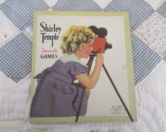 Vintage Shirley Temple Favorite Games Book