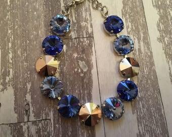 Sassy Sapphire 12mm Swarovski Bracelet
