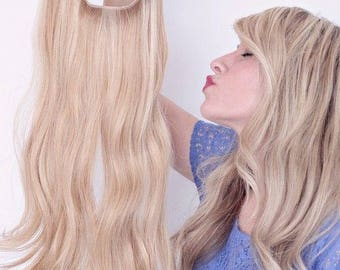 One Piece Wire in Hidden Secret Hair extensions Sandy blonde