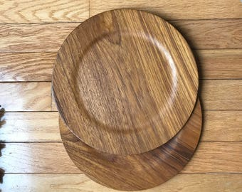 Pair of Illums Bolighus Denmark Vintage Mid-Century Danish Ply Molded and Turned Plates