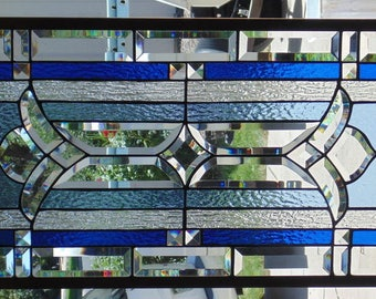 Stained Glass Window Hanging 37 3/4 X 17