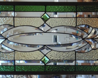 """Stained Glass Window Hanging 38 1/2 X 14"""""""
