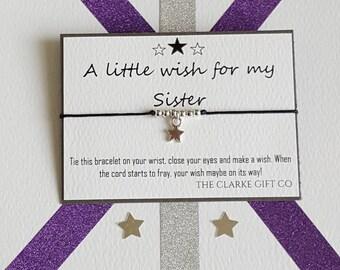Sister gift, Wish bracelet, Friendship bracelet, Bracelet, gift, Little wish, Wish bracelet, Gift for Sister, Sister bracelet, Sisterhood